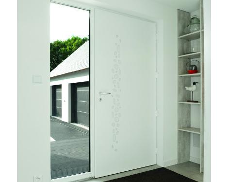 Porte d'entrée contemporaine fixe latérale vitré