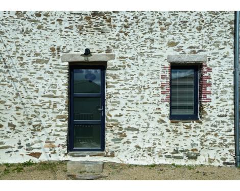 Fenêtre et porte PVC vitrage sablé