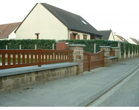 Clôture bois ajourée