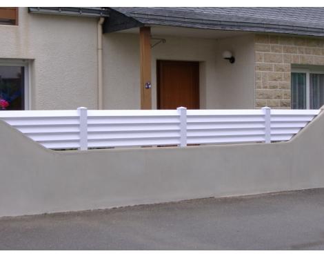 Clôture brise-vue PVC