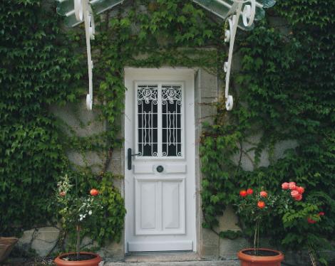 Porte d'entrée bois sur-mesure