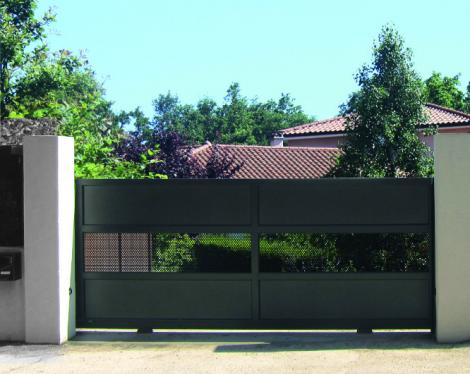 Portail design gris 3