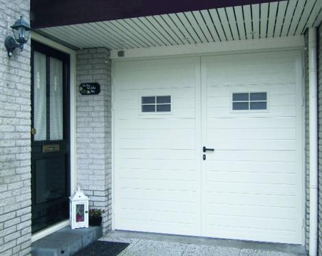 Porte de garage battante blanche Novoferm