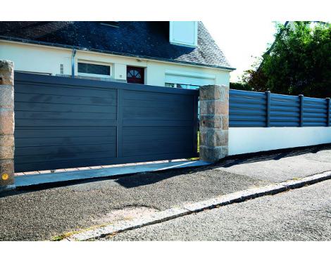 Portail PVC et clôture sur muret CARDIN