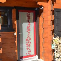 porte d'entrée vitrée design BELM evian les bains originale