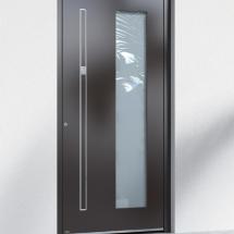 Porte d'entrée aluminium semi-vitrée