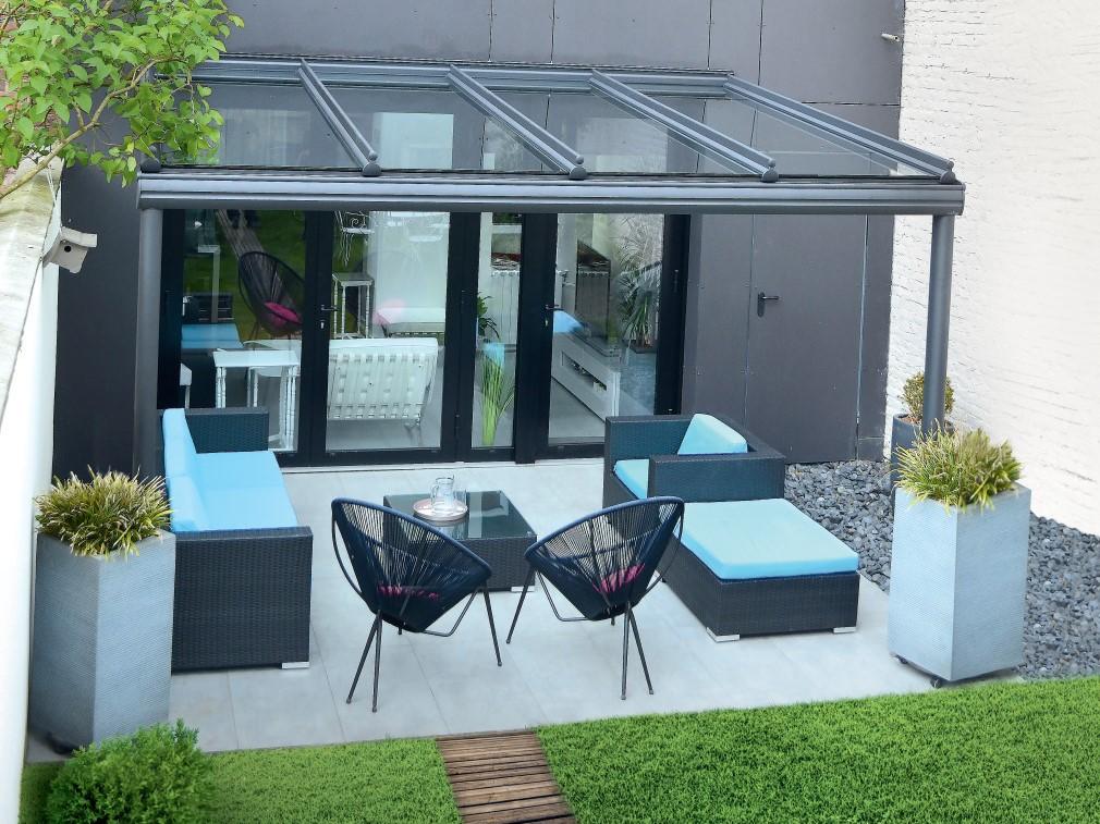Pergolas aluminium à toit vitré, toits de terrasse sur ...