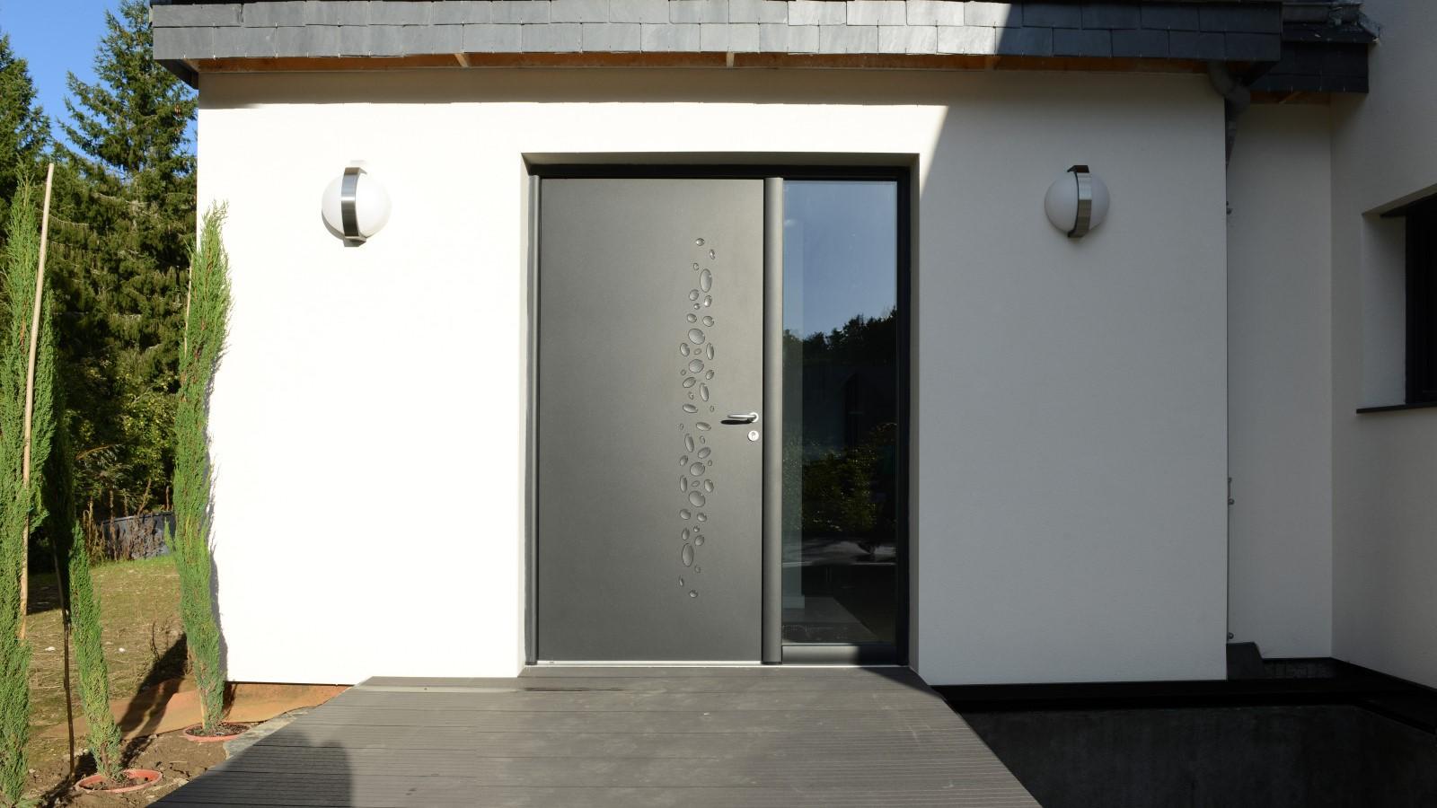Sas D Entrée Interieur portes d'entrée aluminium sur-mesure | komilfo