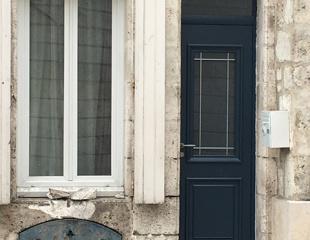 Porte d'entrée aluminium, sur-mesure, fabrication Française. choix du coloris.
