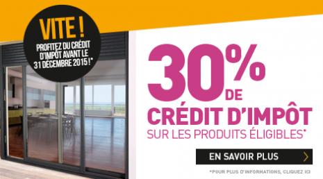 30% de crédit d'impôt produits éligibles Komilfo